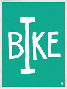 Image of I Bike Print
