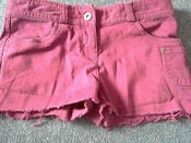 Image of Topshop moto burgundy shorts