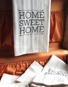 Image of Set of 2-Screen-Printed Dishtowels - Home Sweet Home