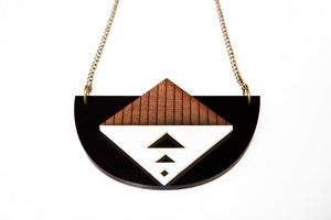 Image of Egyptian triangle bib necklace