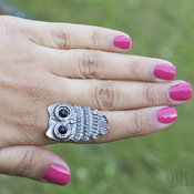 Image of Owl Ring (Adjustable)