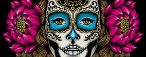 Image of La Calavera Catrina: Canvas Gicle