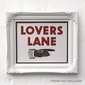 Image of Lovers Lane Letterpress Sign