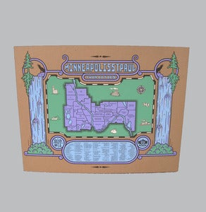 Image of minneapolis | st.paul - map