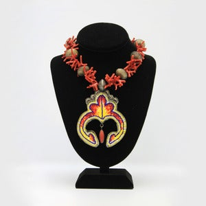 Image of Fire in the Sky: Coral Naaja Necklace