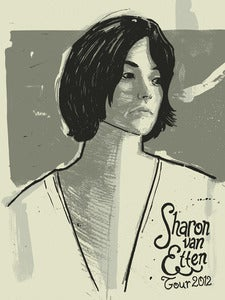 Image of Sharon Van Etten 2012 Tour Poster // 18x24