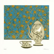 Image of Tea with Flowers - Limited Edition Screenprint
