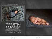 Image of Simply Clean Birth Announcement Template 1