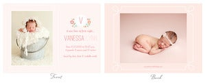 Image of Simply Clean Birth Announcement Template 2