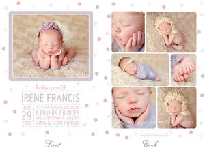 Image of Simply Clean Birth Announcement Template 3