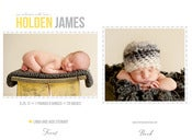 Image of Simply Clean Birth Announcement Template 4