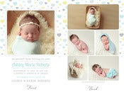 Image of Simply Clean Birth Announcement Template 10
