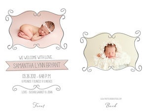 Image of Simply Clean Birth Announcement Template 11