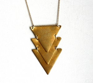 Image of Kinetic Brass Chevron Necklace