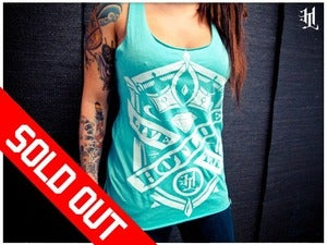Image of *SOLD OUT* HOTLIFE - &quot;MINT RACERBACK&quot; Ladies Tank Top 