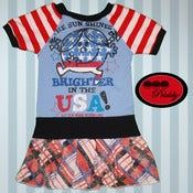 Image of **SOLD OUT** Little Miss Sunshine USA dress - size 3/4T