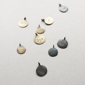 Image of Hammered Embossed Pendants