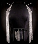 Image of Body Chain Dangle Vest (Silver or Gold)