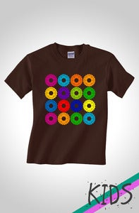 Image of The Cogs Kids Cycling T-Shirt Dark Chocolate