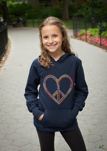 Image of Peace and Love Rhinestud Hoodie