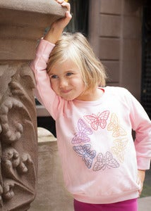 Image of Rhinestud Butterfly Sweatshirt