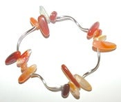 Image of Silver plated gem chip bracelet