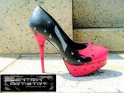 "Image of ""Raspberry Champagne"" Custom High Heels (1-of-1)"
