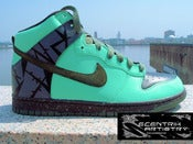 "Image of ""Bamboo Tree"" Custom Dunk High (1-of-1)"
