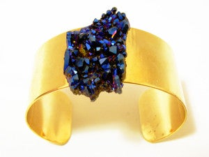 Image of Royal Aura Quartz Gold Plated Cuff