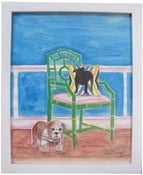 "Image of Bulldog By Chair 8"" x 10"" Print"