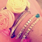 Image of NEW! rainbow bright multicolor rosette bracelet