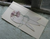 Image of Hand cut paper machet Dove card