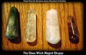 Image of Crystal Points Set: Bloodstone, Quartz, Rose Quartz & Amethyst