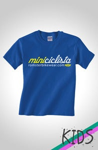 Image of Mini Ciclista Kids Cycling T Shirt Royal Blue