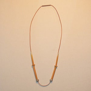 Image of SIMPLE YELLOW NECKLACE