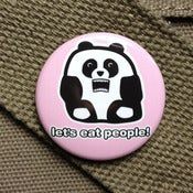 Image of Pandas hate people button