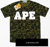 "Image of NEW! A Bathing Ape ""APE"" Bape CAMO T-Shirt Collection"