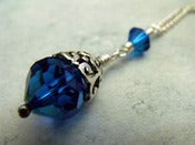 Image of Capri Romance Drop Necklace | Vintage Swarovski Crystal, Sterling Silver