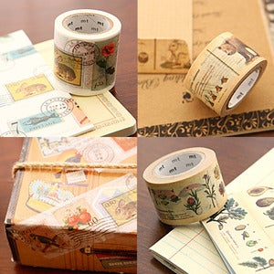 Image of mTape Illustrated Washi Tape