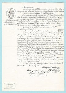 Image of Antique French documents