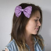 Image of Medium Glitter Hair Bow - 30 Colours!