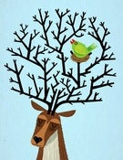 Image of The Tree Stag and The Green Finch - Limited Edition Print