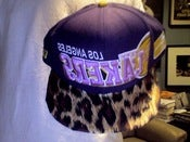 Image of Custom LA Lakers Leopard Print Snapback