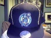 Image of Custom Boston Celtics Studded Snapback Rare!!!