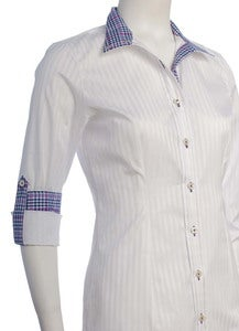 Image of White Stripe / Navy & Purple Plaid/ Purple *NEW*