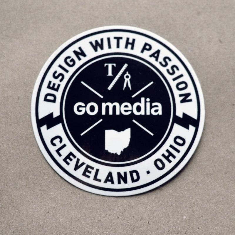 Image of Go Media - Design with Passion Sticker