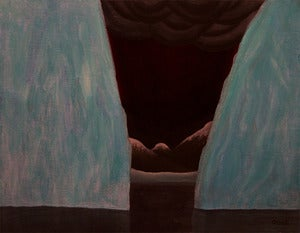 "Image of ""Desire - Sanctuary"" Original Iceberg Painting by Artist Omar Zingaro Bhatia"