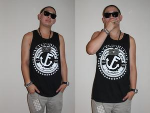 "Image of Fr3sh & Cakey ""BattleShittin'"" Men's Tank Top in Black"