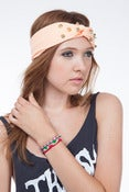 Image of Peach Gold Studded Turban