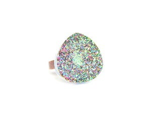 Image of Pastel Bonfire Druzy Ring (v3)